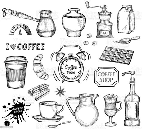 Find & download free graphic resources for coffee illustration. Hand Drawn Coffee Vector Illustration Stock Illustration - Download Image Now - iStock