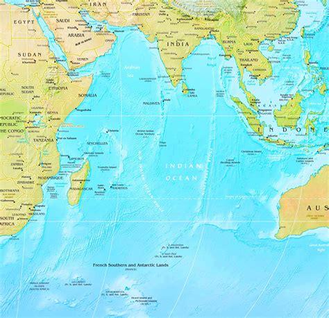 indian ocean physical map