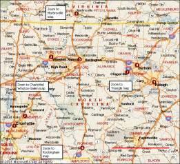 NC Map North Carolina Cities
