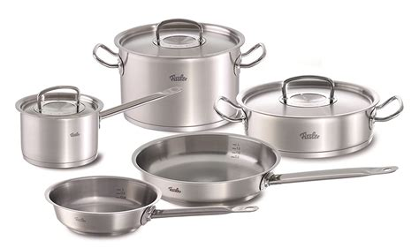 cookware sets professional rated induction stainless steel profi pot collection stovetops compatible lid pieces cooking gas electric metal