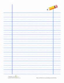 Lined Handwriting Paper Worksheet Education com