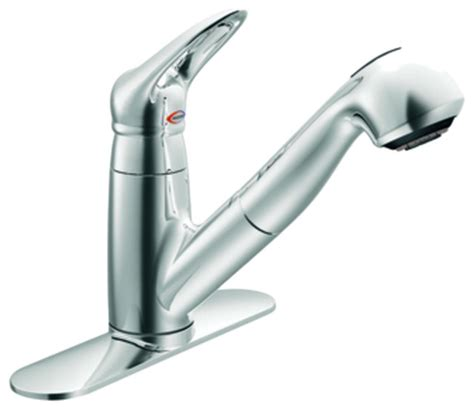 moen 67570c salora series single handle pull out kitchen faucet chrome contemporary