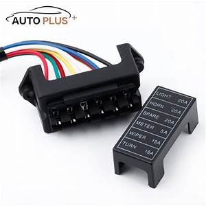 6 Way Car Fuse Box Circuit Car Trailer Auto Blade Fuse Box