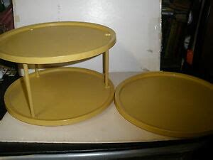 Two Tier Lazy Susan Spice Rack by Vintage Rubbermaid Green 2 Tier Lazy Susan Turntable Spice