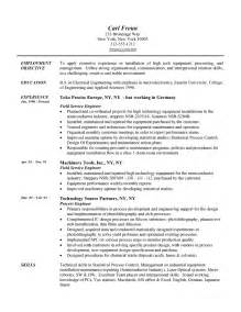 engineering resume objective statement sle resume format may 2015