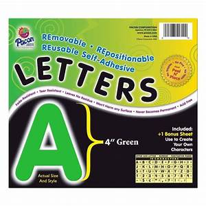 self adhesive removable letters pacon 51624 pac51624 vinyl With self adhesive letters for walls
