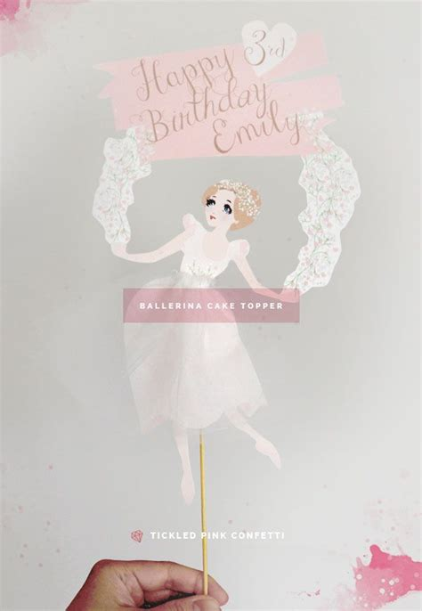 diy printable ballerina cake topper printables happy