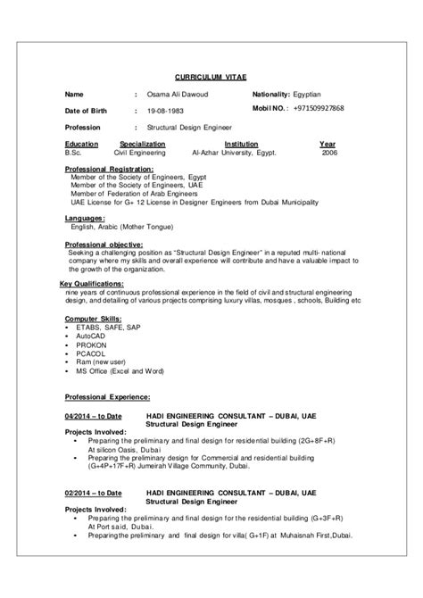 Structure Cv by Osama Structure Eng Cv