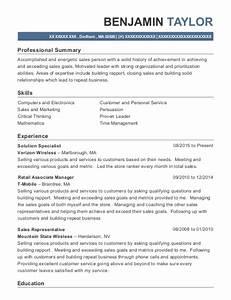 Customer Service Manager Sample Resume Verizon Wireless Solution Specialist Resume Sample