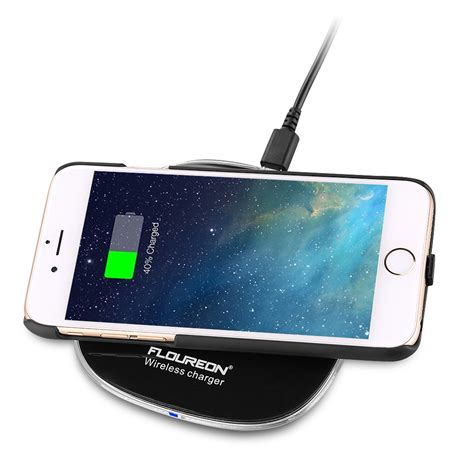led l wireless charger qi wireless charger led pad with charging receiver for
