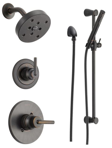 faucet com dss trinsic 1401rb in venetian bronze by delta