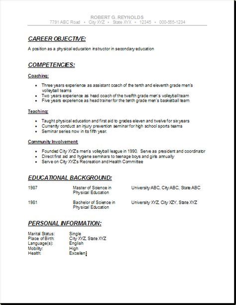 Resume Builders In College by Pin By Resumejob On Resume High School Resume