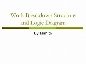 Work Breakdown Structure And Logic Diagram
