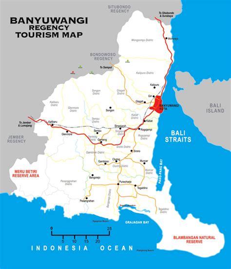takjub indonesia peta kota kabupaten banyuwangi