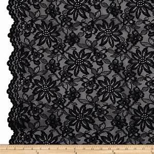 Telio Izabel Lace Black - Discount Designer Fabric