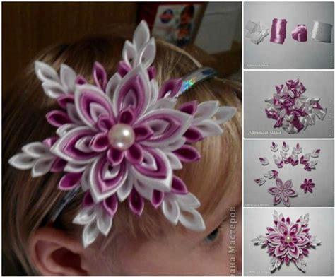 wonderful diy pretty ribbon flower  pearls