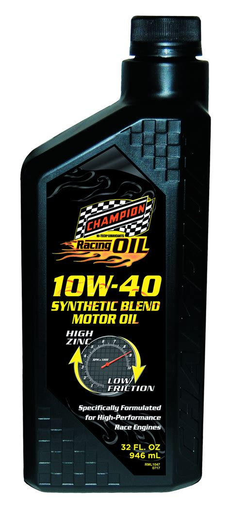 Champion Brands Launches New 10w40 Racing Motor Oil Aug
