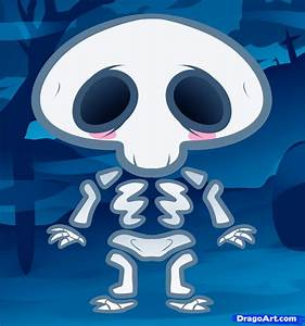 How to Draw a Skeleton for Kids, Step by Step, Halloween ...