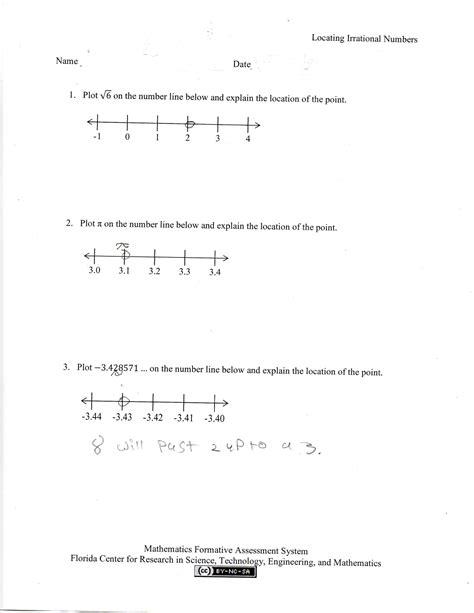 grade 8 math worksheets rational numbers negative number