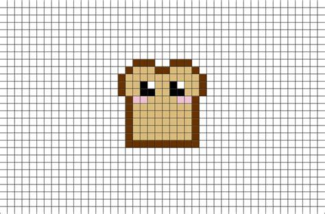 toast pixel art brik