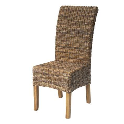 alinea chaises salle à manger alinéa samourai chaise en abaca naturel pas cher achat