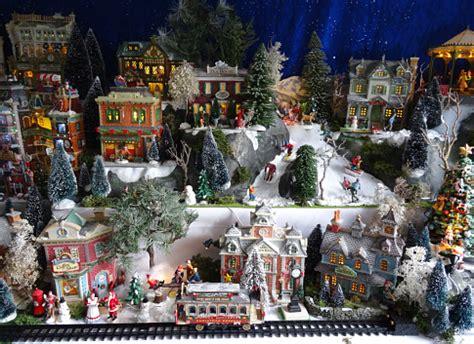 image  model christmas village  miniature houses people winterscene stock photo