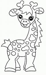 Giraffe Coloring Cute Pages Giraffes Colouring Printable Cartoon Funny Comments Ide Template Coloringhome sketch template