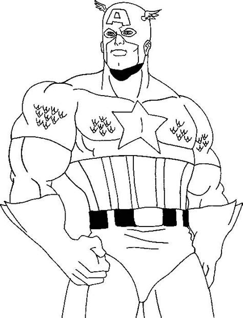 Kaptain Amerika Kleurplaat by Captain America Coloring Page Coloring Pages