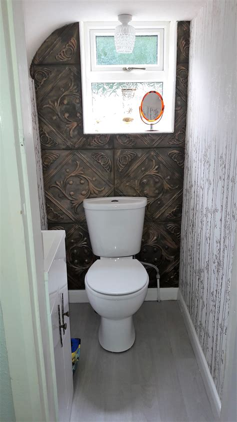 Small Water Closet  Toilet  Painted White Polystyrene