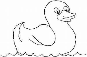 Swimming Rubber Ducky Coloring Page Coloring Sky