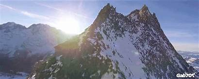 Mountain Flying Drone Footage Gorgeousness Mountains Pure