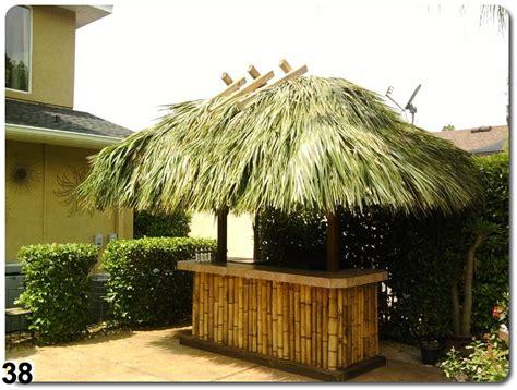 Tiki Hut Roof Construction by Custom Tiki Bar Construction Ta Bay Area Florida