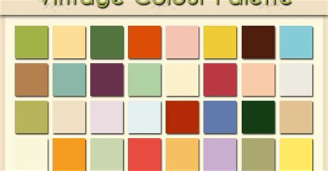 vintage color shadowhouse creations vintage colour palette