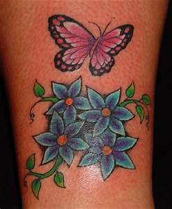Butterfly and Flower Tattoos Make a Unique Tattoo Design ...