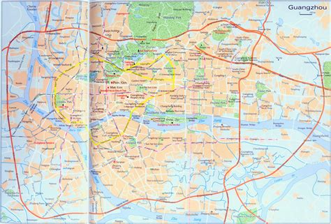 guangzhou city map map  guangzhou city china guangzhou