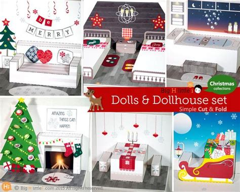 Christmas Papercraft / Christmas Printable Dollhouse 4ft Christmas Tree With Lights Guse Trees Fillmore Farm 3 Foot Pink How To Make A Cake Ideas For White Wisconsin Victoria
