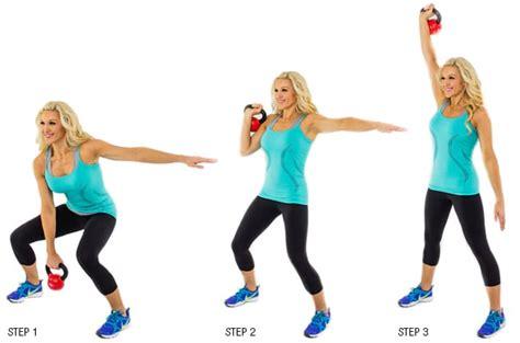 kettlebell clean press hiit hang workout minute spotmegirl alternate