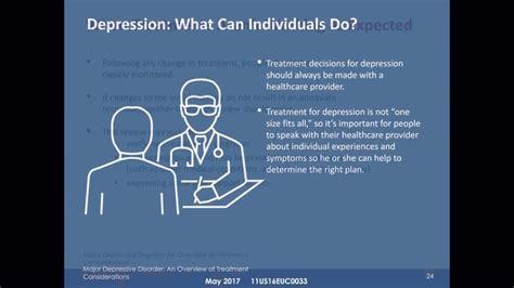 major depressive disorder  overview  treatment