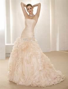 wedding trends blush wedding dresses belle the With blush pink wedding dress