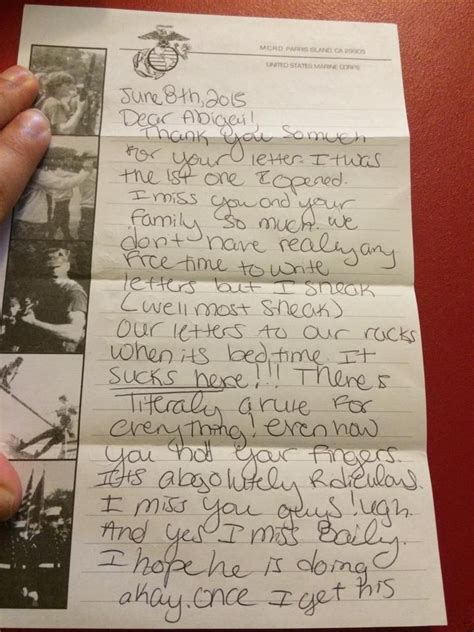 best friend letter a letter to my best friend who joined the marine corps 32211
