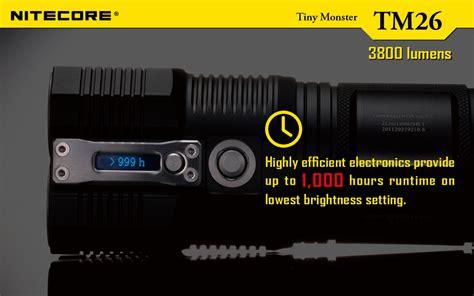 le torche 4000 lumens nitecore tm26 tiny 4000 lumen led torch liteshop au