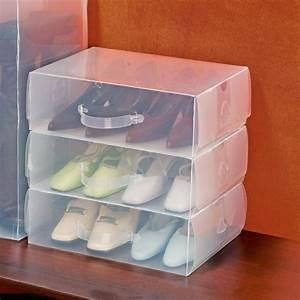 Boite A Chaussure Transparente : rangement boite chaussure ~ Teatrodelosmanantiales.com Idées de Décoration