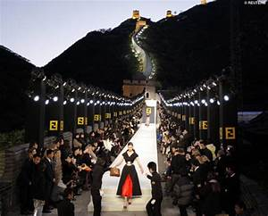 Fifties Style Lighting Fendi Holds Fashion Show On Great Wall Of China Daily