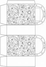 Bag Flowers Colouring Moss Rock Printables Template Coloring Pages Gift Bags Templates Rooftop sketch template