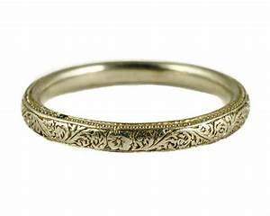 stunning english antique art deco platinum wedding band With antique wedding rings ebay