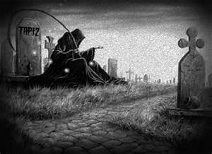 Grim Reaper in cemetery by J92309J on DeviantArt