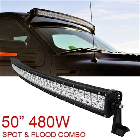 50 inch curved light bar 50 quot inch 480w spot flood combo cree curved led light bar