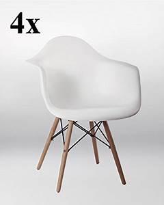 Küchenstühle 4er Set : 4er set stuhl esszimmerst hle k chenst hle in weiss k chenstuhl mit holzbeinen retro design ~ Indierocktalk.com Haus und Dekorationen