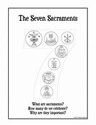 Catholic Seven Sacraments Printable Worksheets
