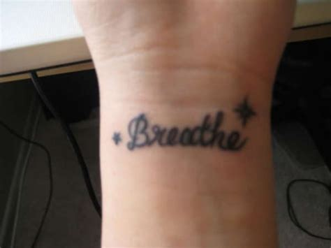 elegant  breathe tattoos design  wrist